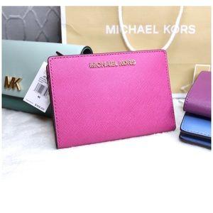Michael Kors Bags - NWT Michael Kors Pink Wallet + Card Case Carryall